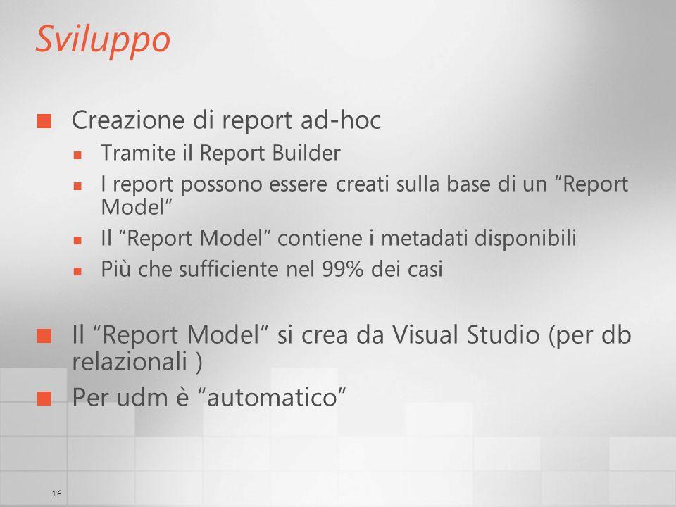 Sviluppo Creazione di report ad-hoc