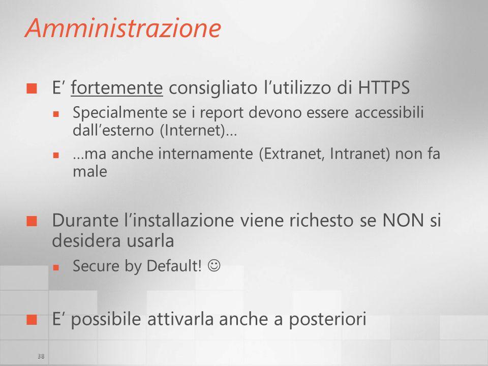 Amministrazione E' fortemente consigliato l'utilizzo di HTTPS