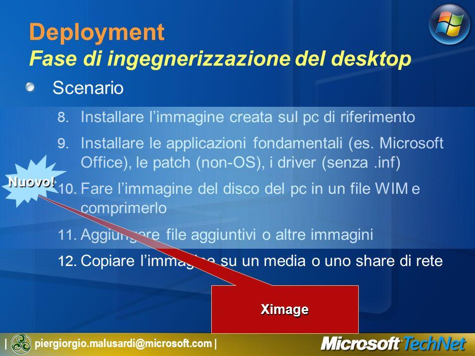 Deployment Fase di ingegnerizzazione del desktop