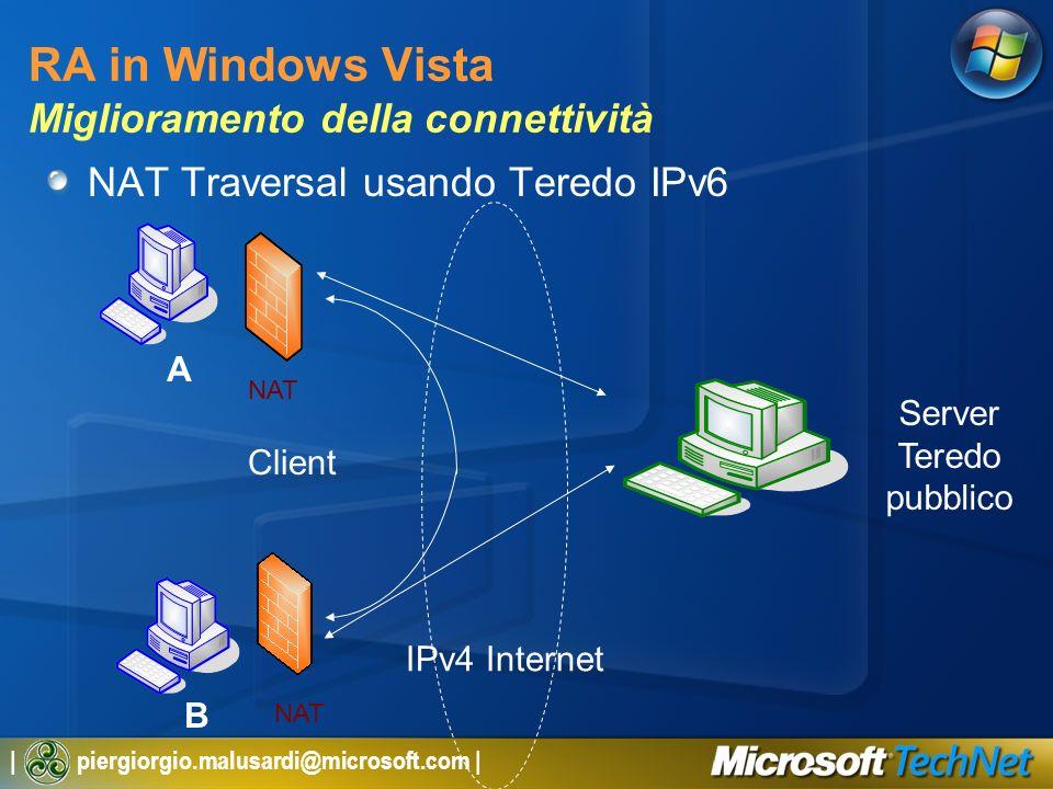 RA in Windows Vista Miglioramento della connettività