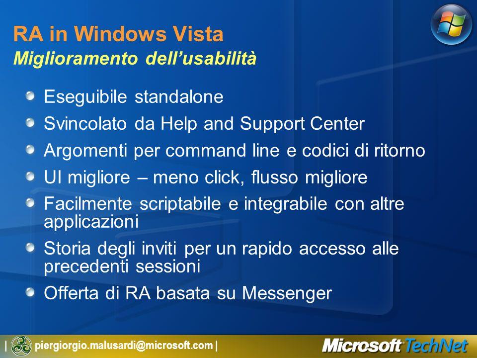 RA in Windows Vista Miglioramento dell'usabilità