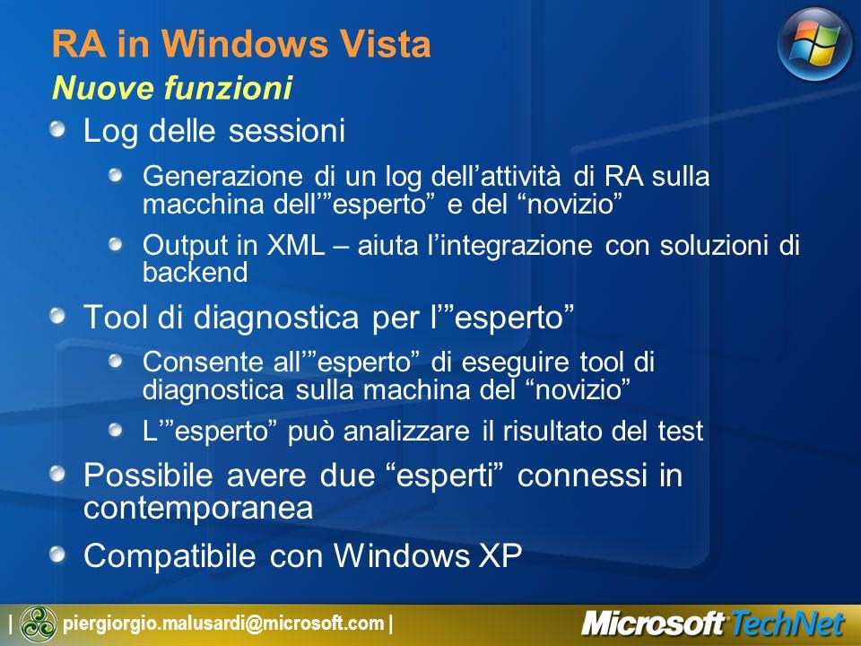 RA in Windows Vista Nuove funzioni