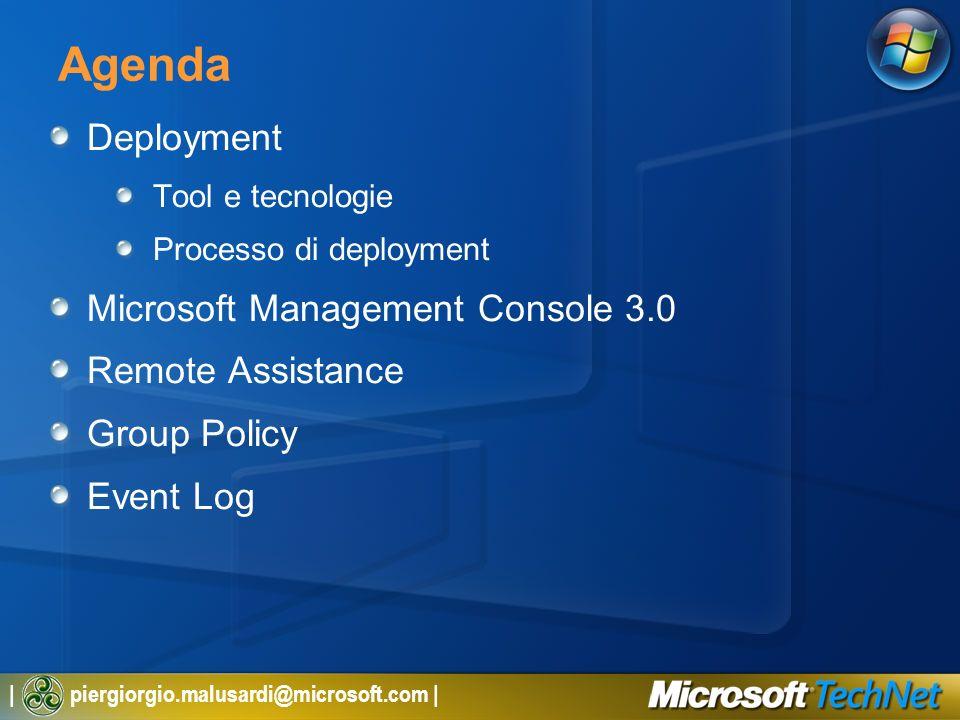 Agenda Deployment Microsoft Management Console 3.0 Remote Assistance