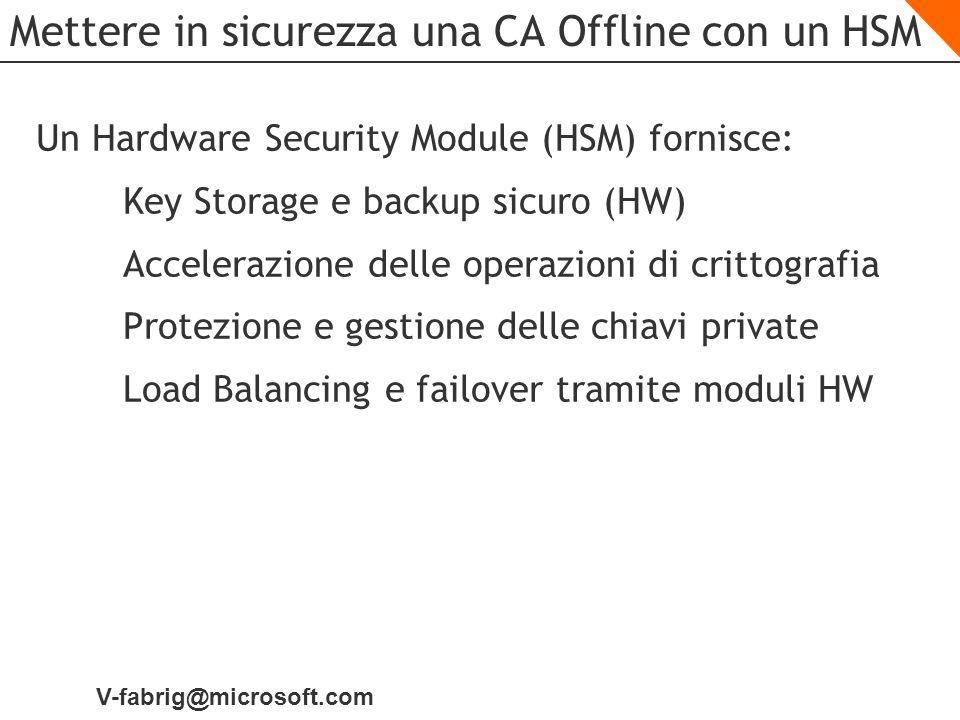 Mettere in sicurezza una CA Offline con un HSM