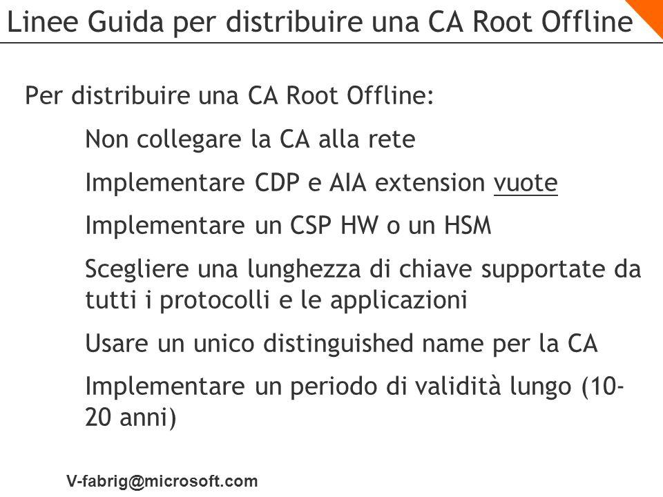 Linee Guida per distribuire una CA Root Offline
