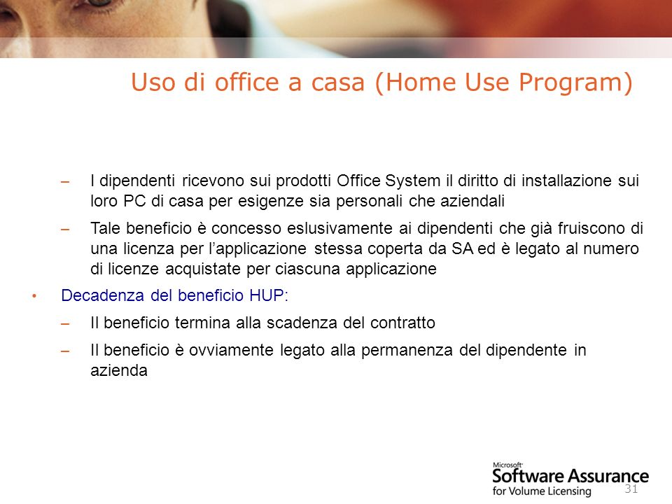 Uso di office a casa (Home Use Program)