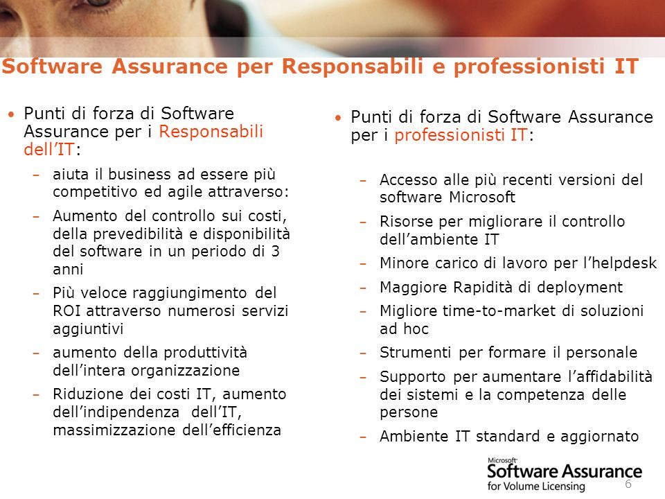 Software Assurance per Responsabili e professionisti IT