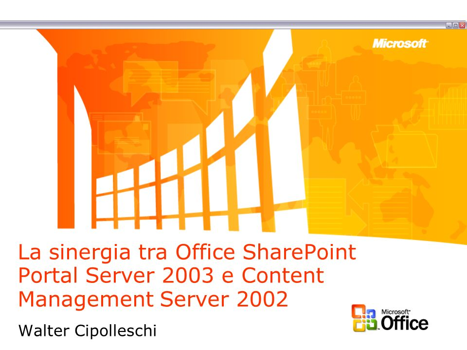 La sinergia tra Office SharePoint Portal Server 2003 e Content Management Server 2002