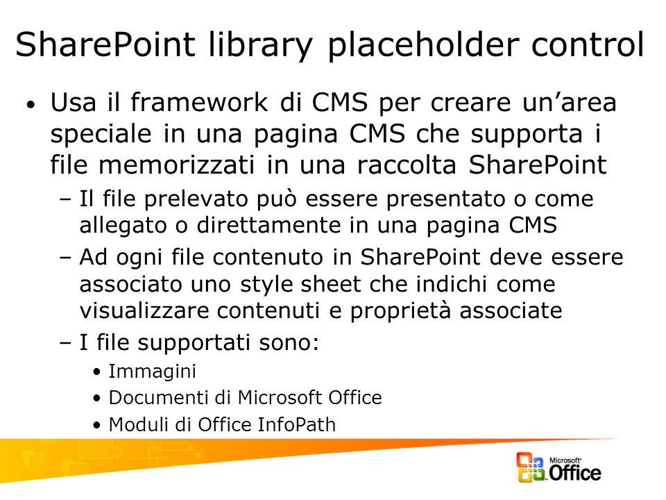 SharePoint library placeholder control