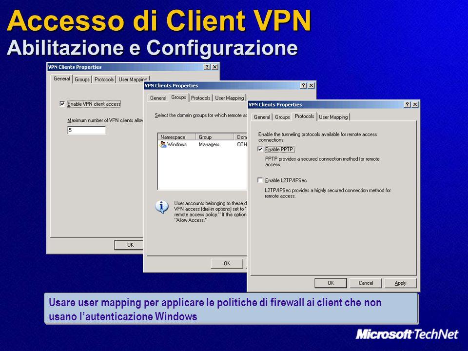 Accesso di Client VPN Abilitazione e Configurazione