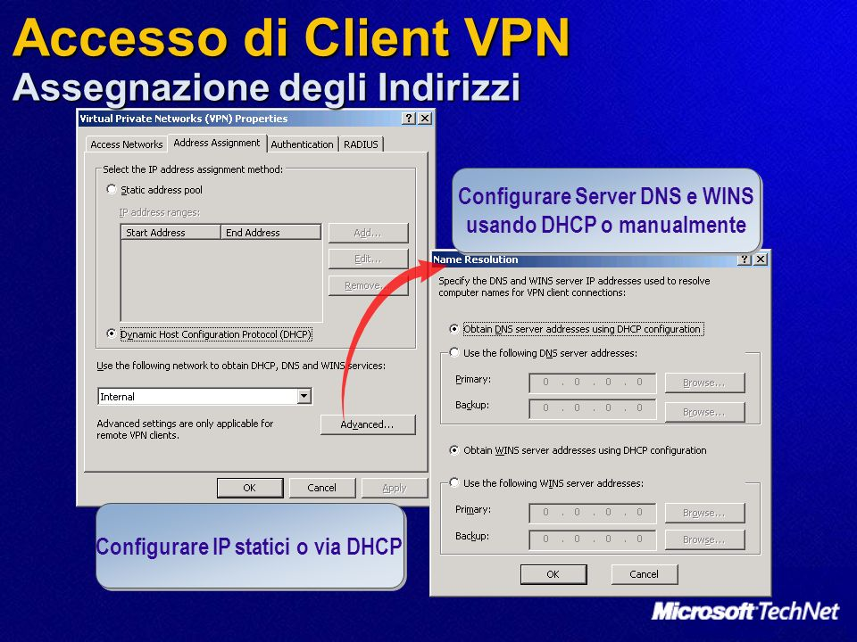 Accesso di Client VPN Assegnazione degli Indirizzi