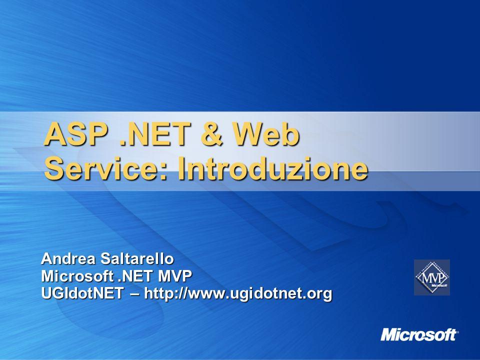 ASP .NET & Web Service: Introduzione