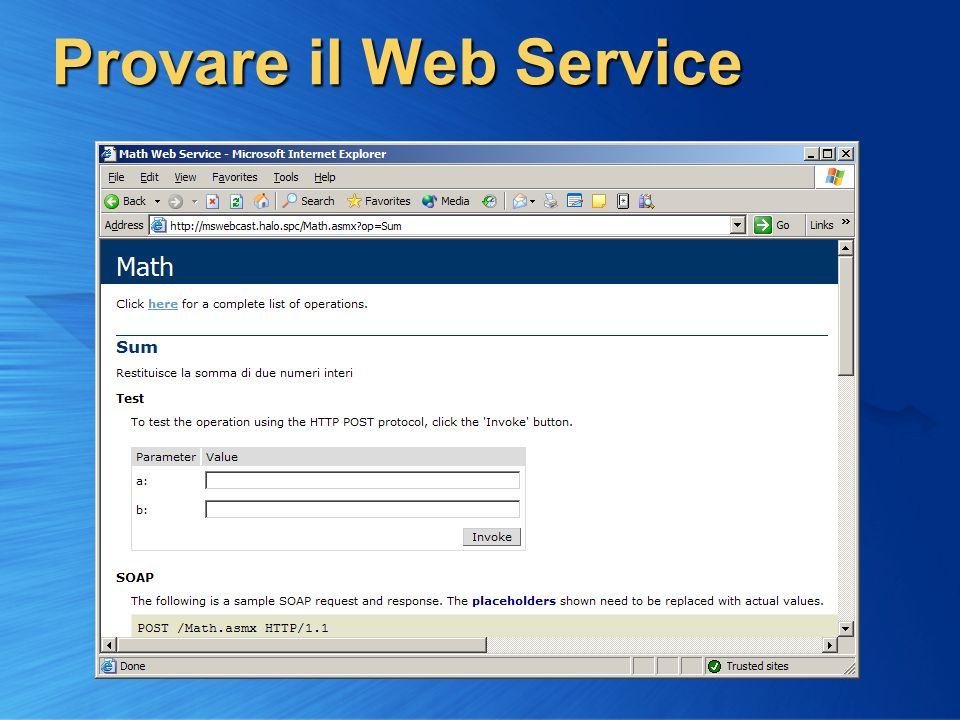 Provare il Web Service