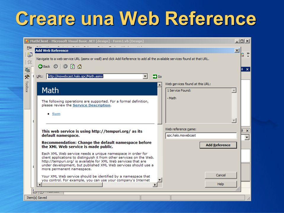 Creare una Web Reference