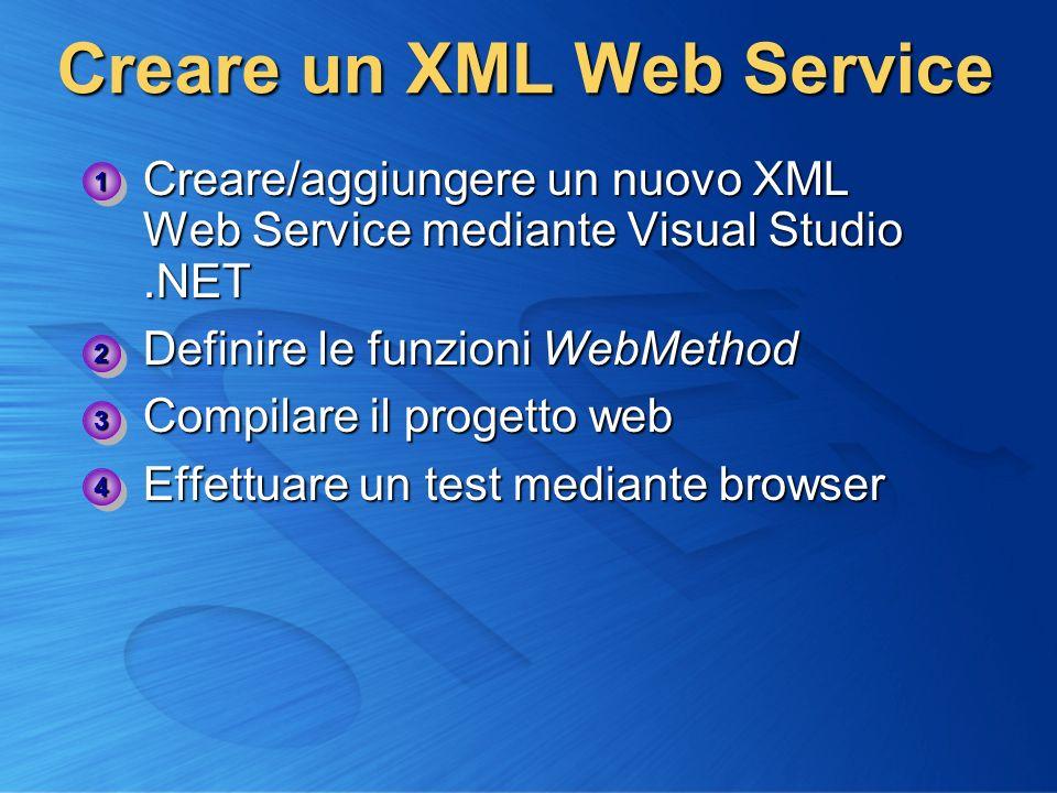 Creare un XML Web Service