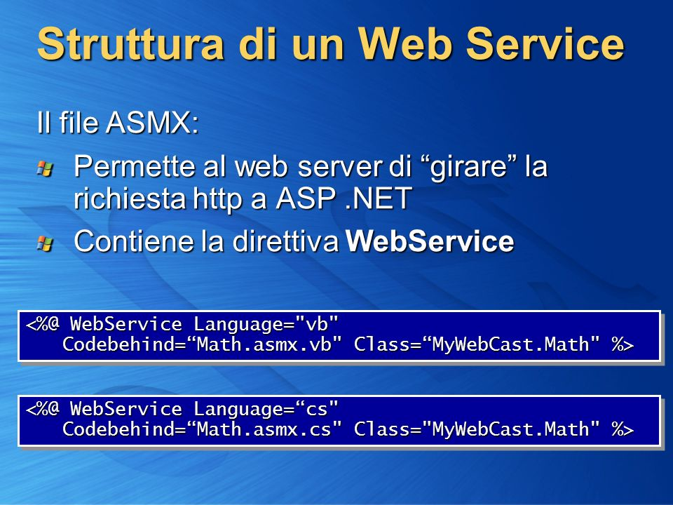 Struttura di un Web Service