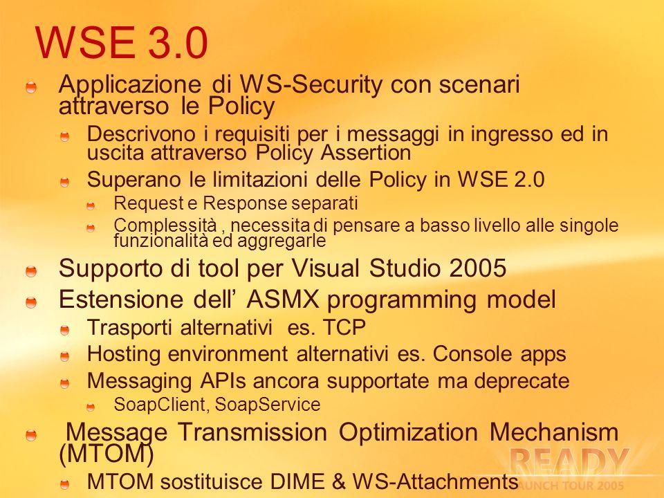 WSE 3.0 Applicazione di WS-Security con scenari attraverso le Policy