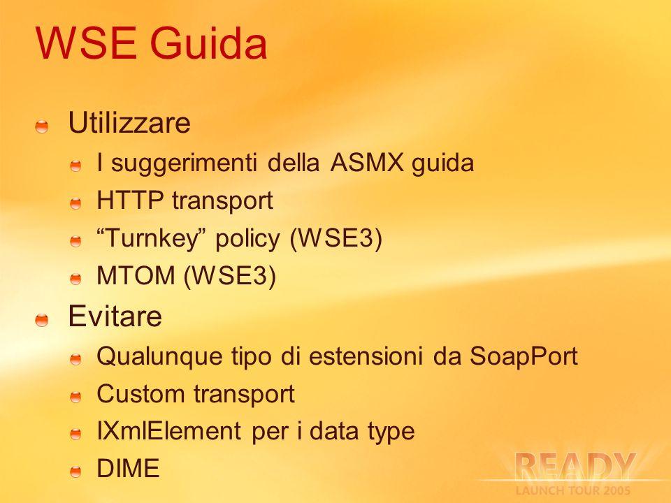 WSE Guida Utilizzare Evitare I suggerimenti della ASMX guida