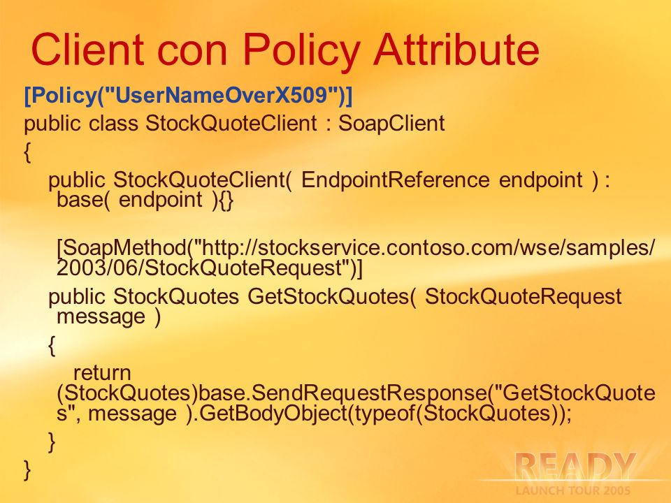 Client con Policy Attribute