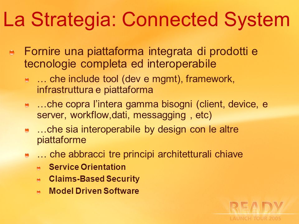 La Strategia: Connected System
