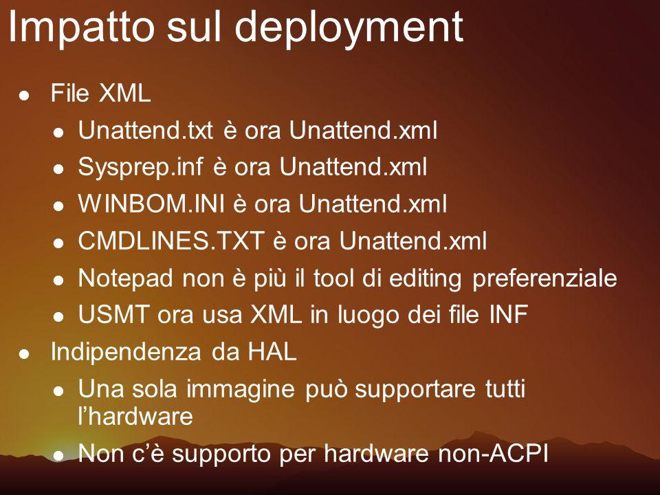 Impatto sul deployment