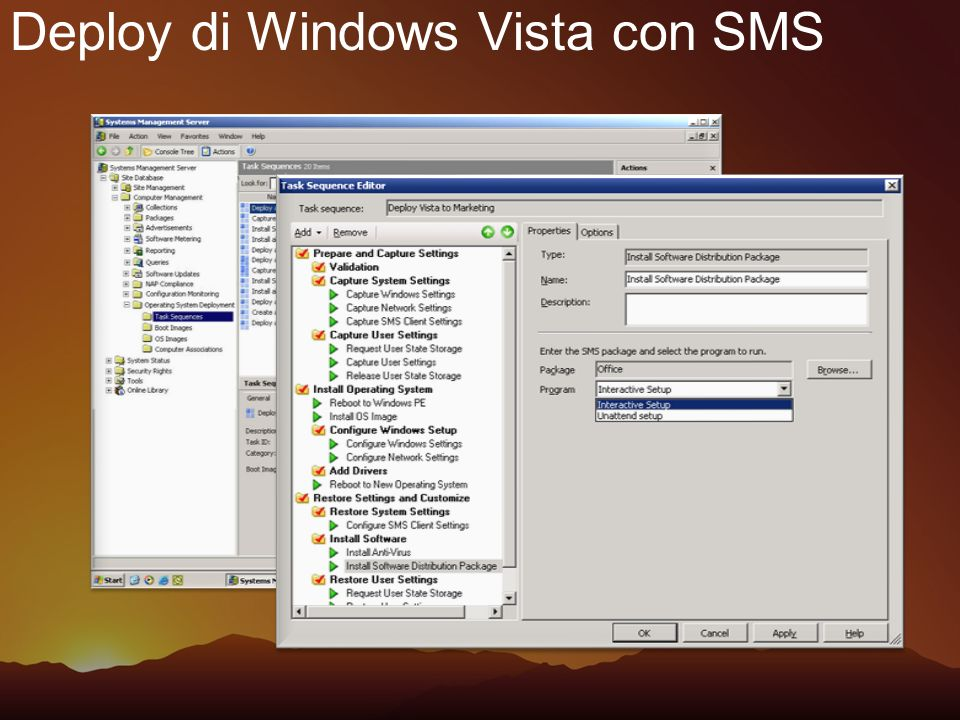 Deploy di Windows Vista con SMS