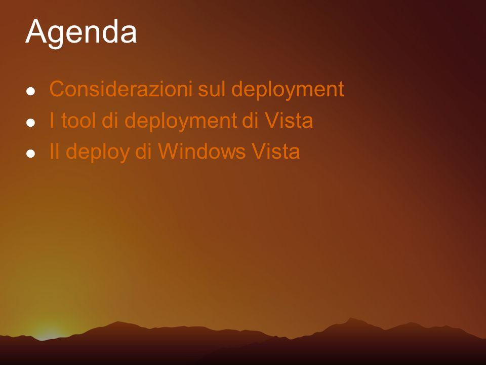 Agenda Considerazioni sul deployment I tool di deployment di Vista
