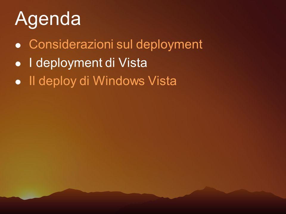 Agenda Considerazioni sul deployment I deployment di Vista