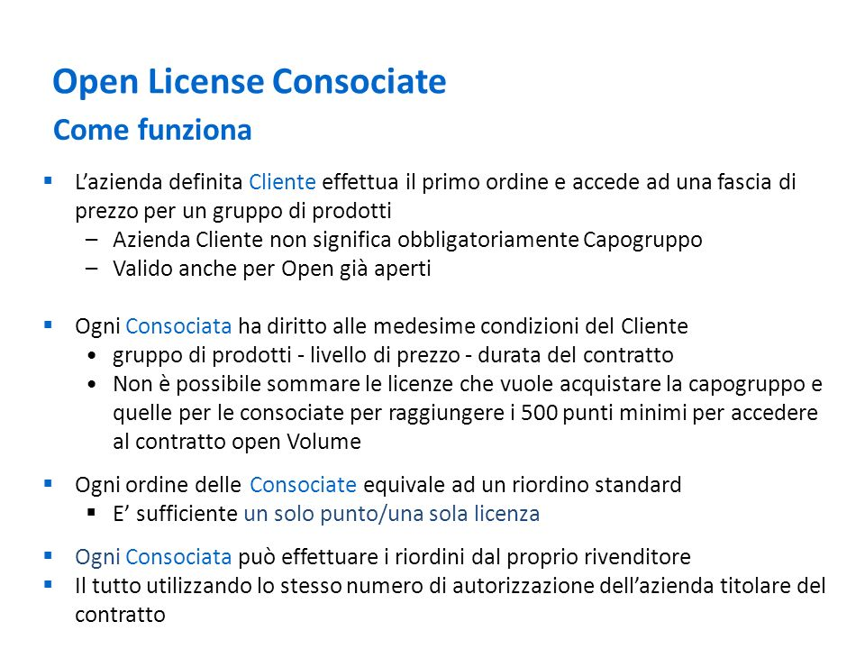 Open License Consociate