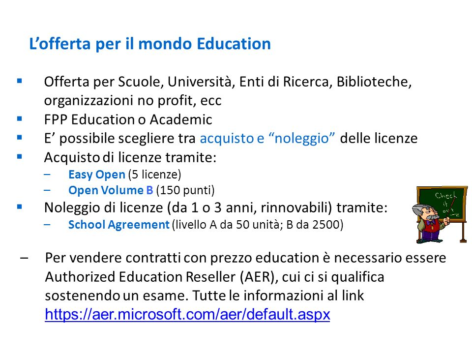 L'offerta per il mondo Education