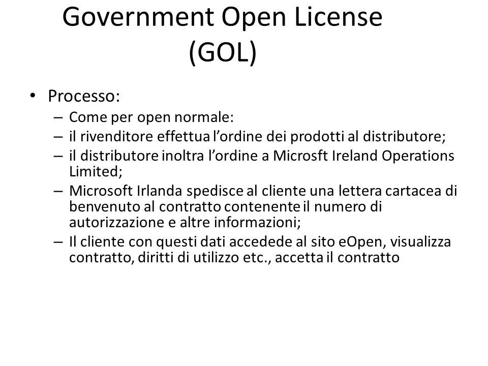 Government Open License (GOL)