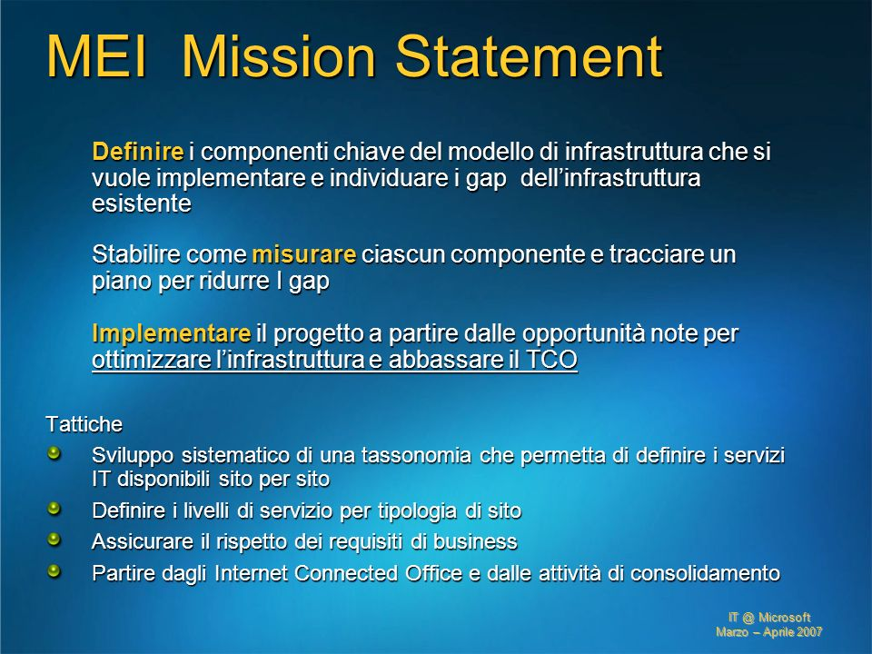 3/27/2017 2:27 AM MEI Mission Statement.