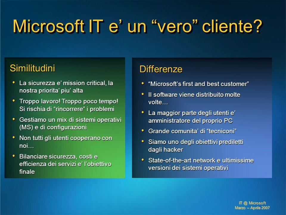 Microsoft IT e' un vero cliente