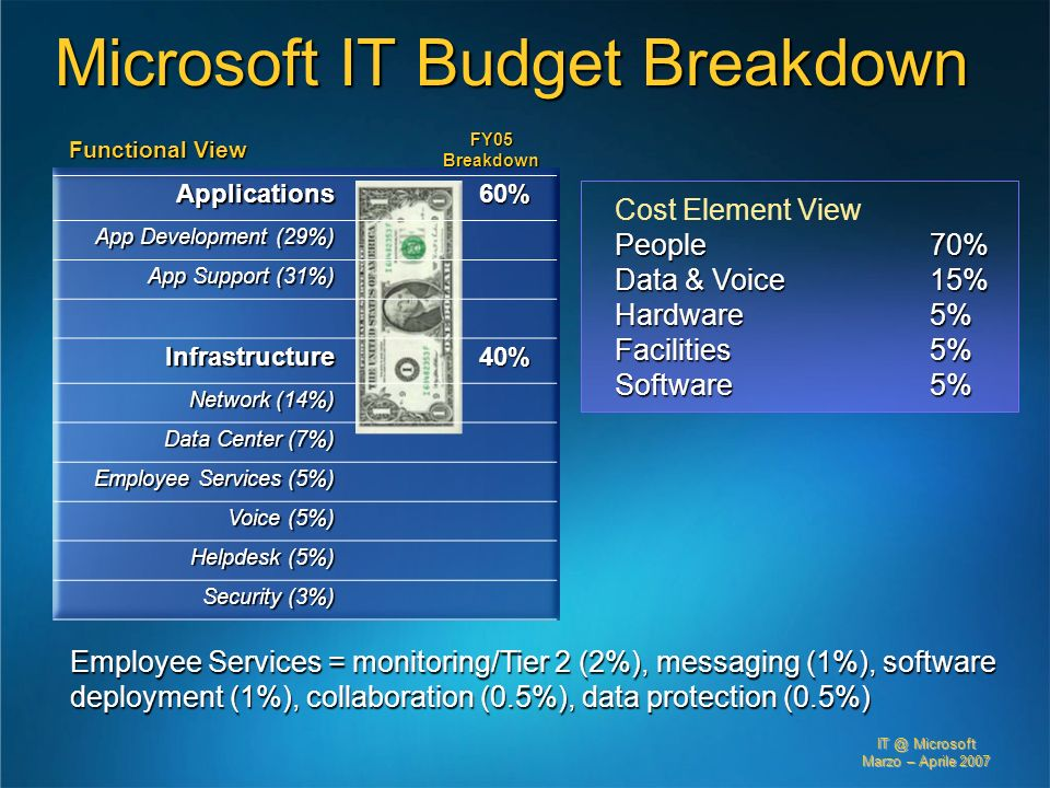 Microsoft IT Budget Breakdown