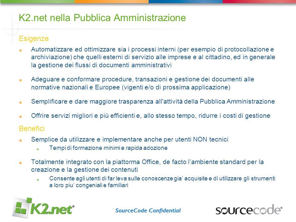 K2.net nella Pubblica Amministrazione