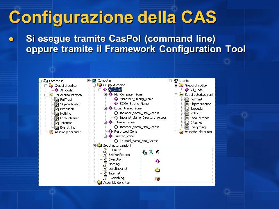 Configurazione della CAS