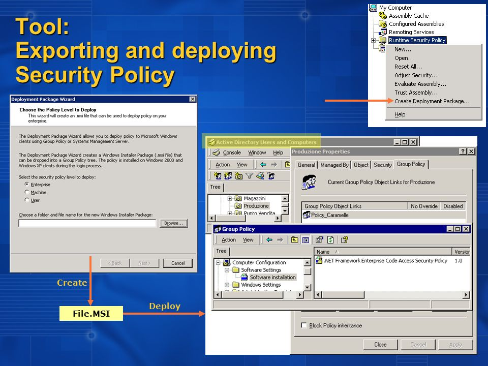 Tool: Exporting and deploying Security Policy