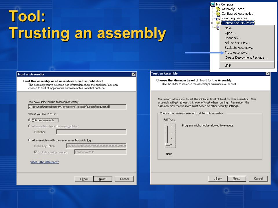 Tool: Trusting an assembly