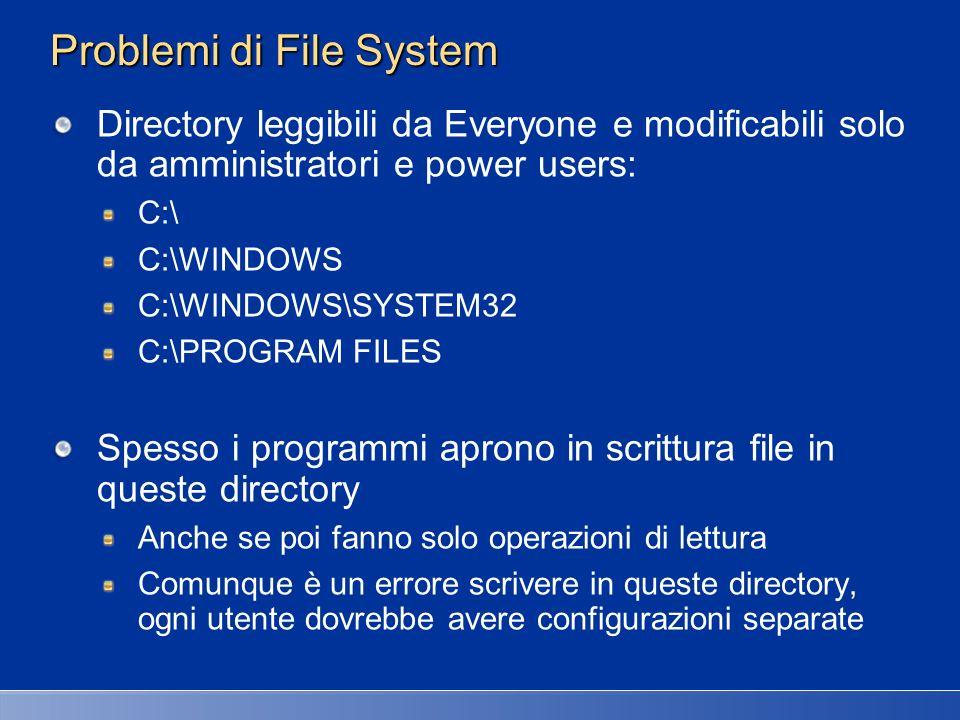 Problemi di File System