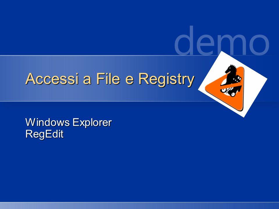 Accessi a File e Registry