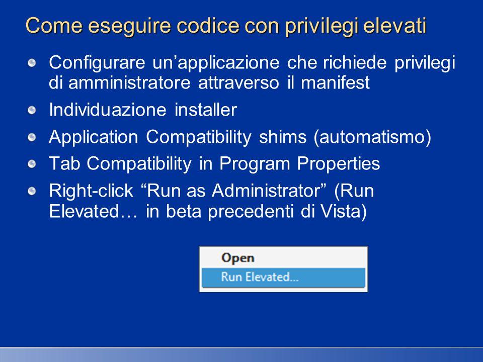 Come eseguire codice con privilegi elevati