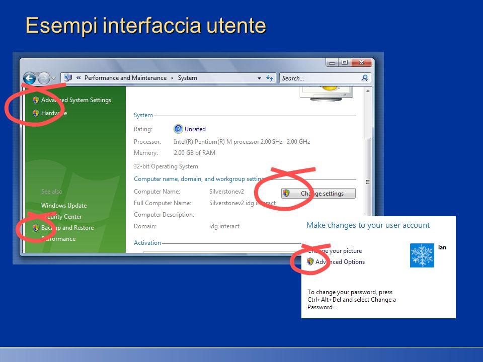 Esempi interfaccia utente