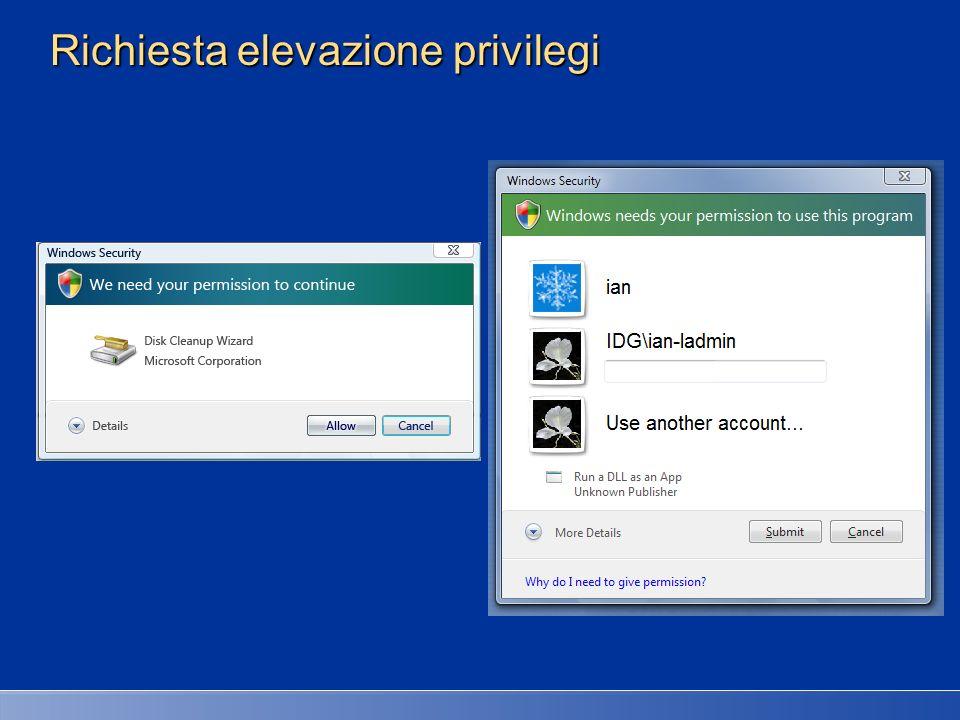 Richiesta elevazione privilegi