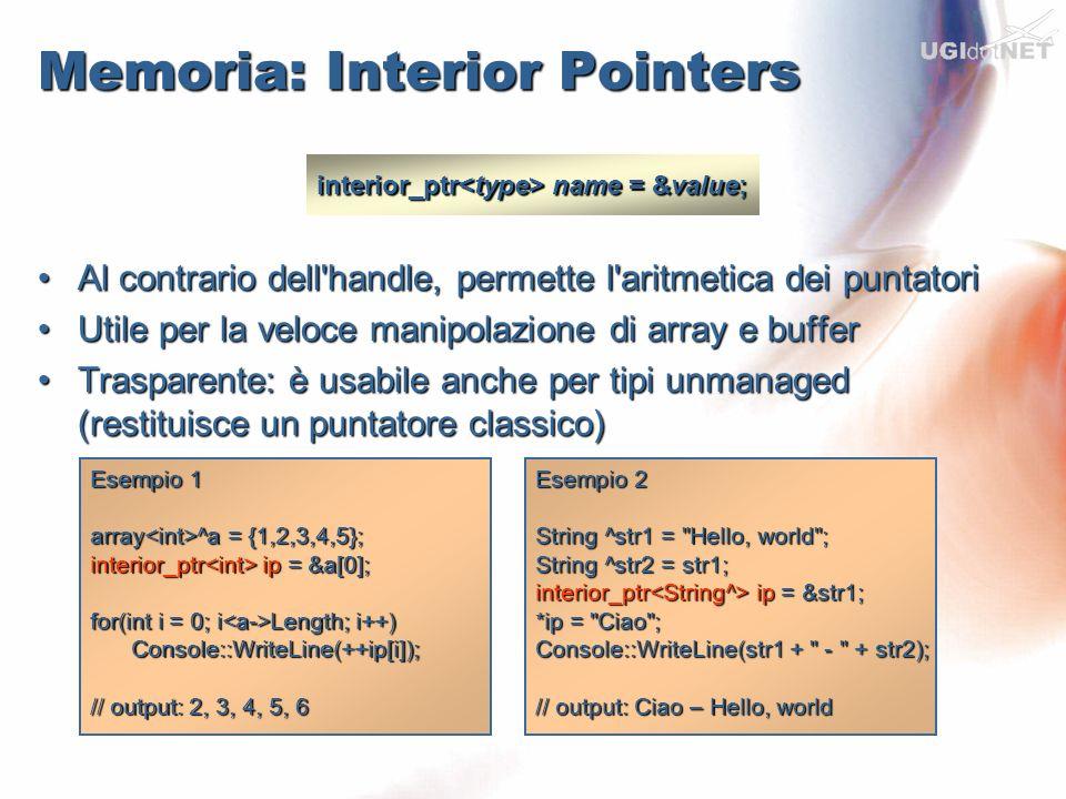 Memoria: Interior Pointers