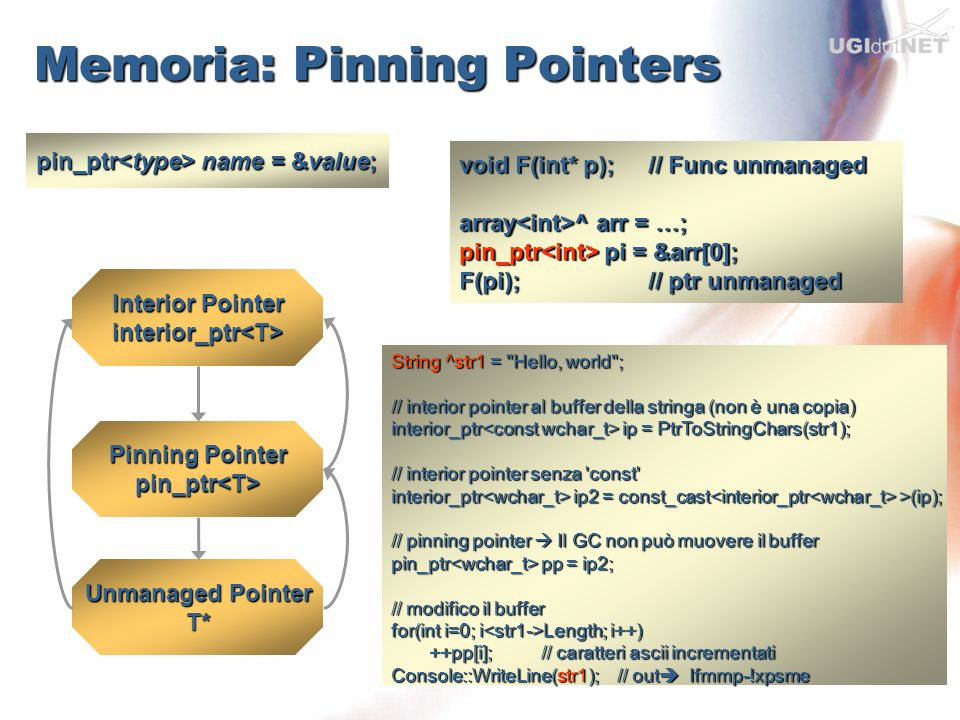 Memoria: Pinning Pointers