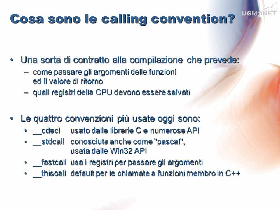 Cosa sono le calling convention