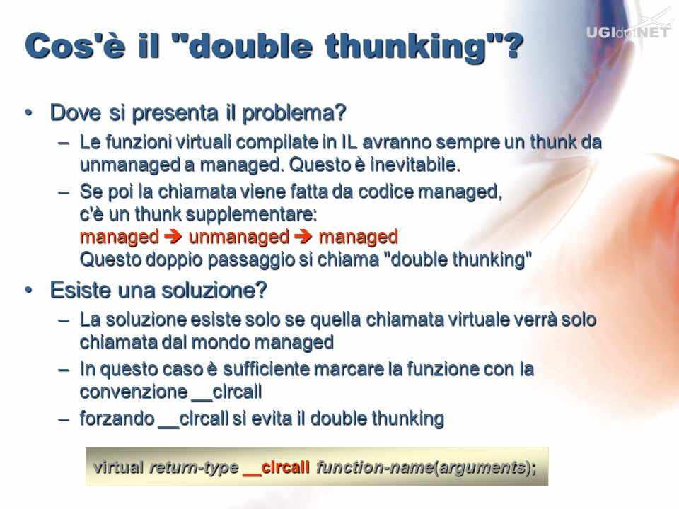 Cos è il double thunking