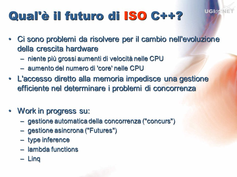 Qual è il futuro di ISO C++