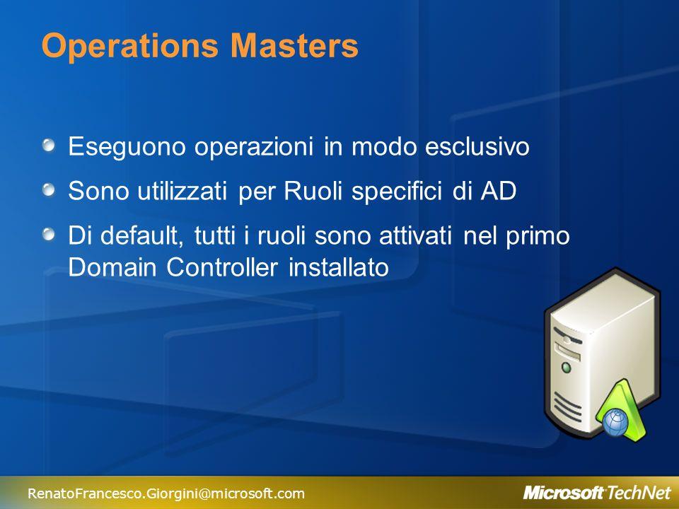 Operations Masters Eseguono operazioni in modo esclusivo