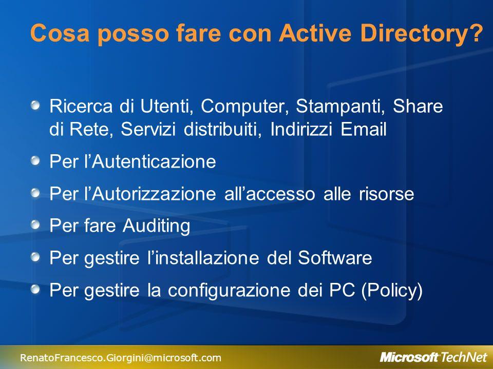 Cosa posso fare con Active Directory